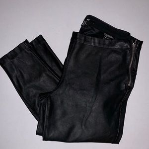 H&M faux leather skinny pants